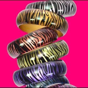 Sexy Zebra Stripe Bangle / Bracelet Several Colors
